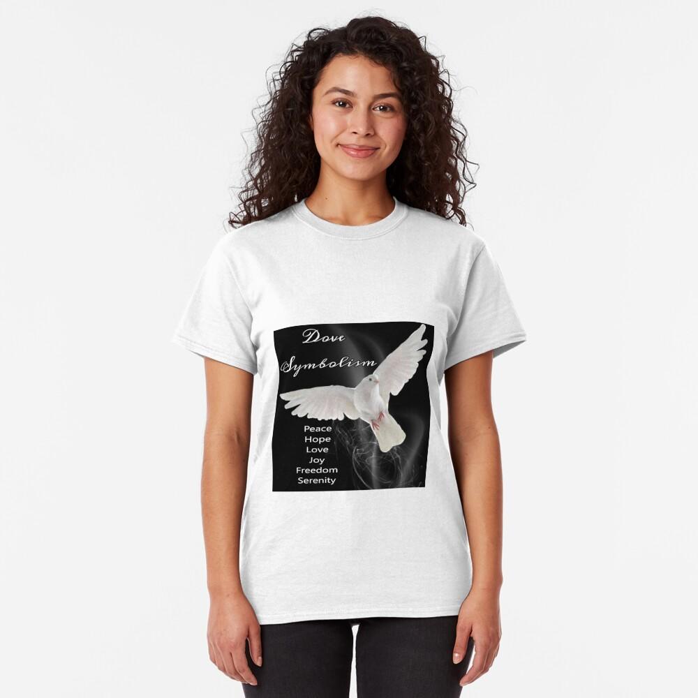 Dove Symbolism Totem Spirit Guide Classic T-Shirt