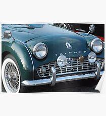Old Antique Triumph car Poster