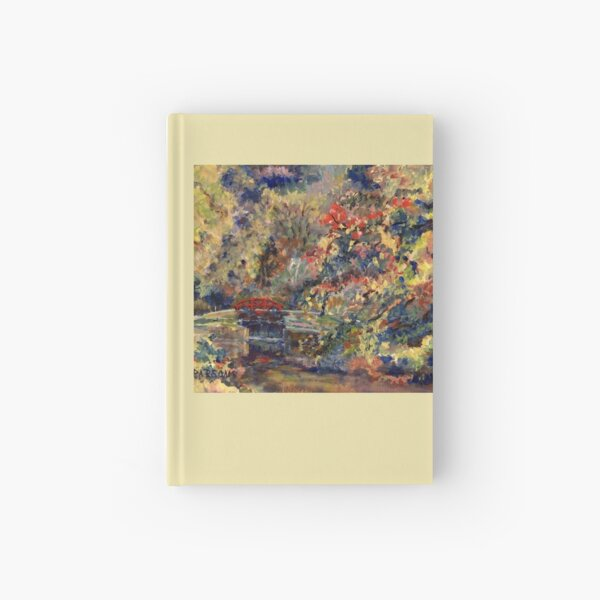 Autumn on the Delaware Canal, Pt Pleasant, Bucks County, Pennsylvania. From original oil impressionist oil painting. Hardcover Journal