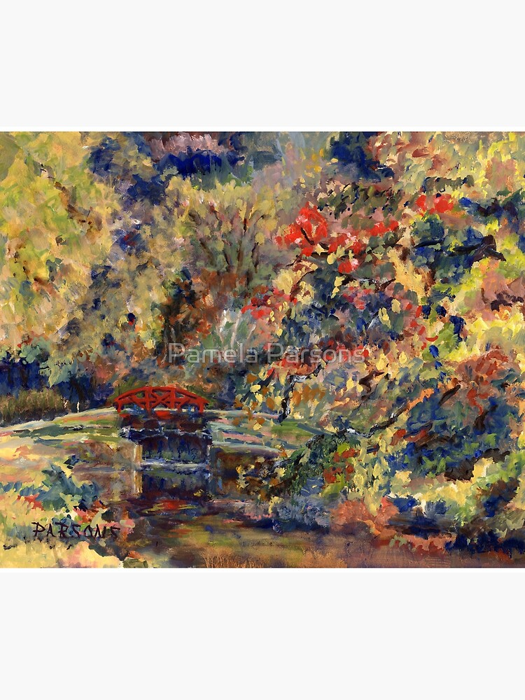 Autumn on the Delaware Canal, Pt Pleasant, Bucks County, Pennsylvania. From original oil impressionist oil painting. by parsonsp