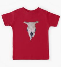 Old Cow Skull tee Kids Clothes