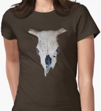 Old Cow Skull tee Womens Fitted T-Shirt