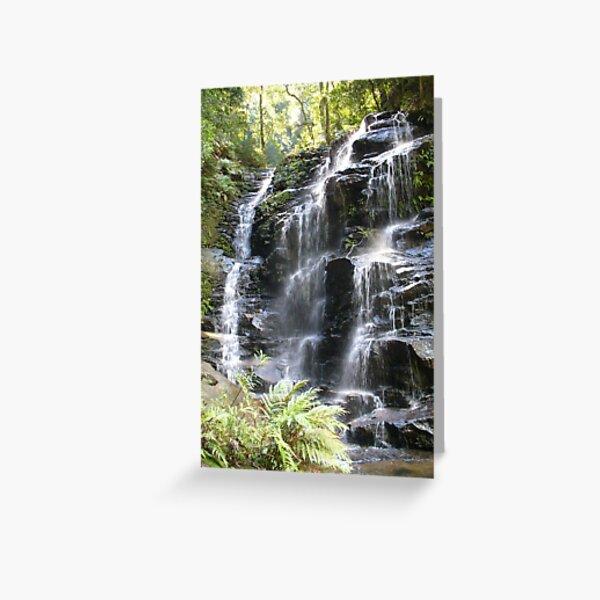 Sylvia Falls, Blue Mountains, NSW Greeting Card