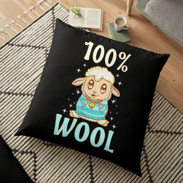 Cute & Funny 100% Wool Sheeps Are 100 Percent Wool Floor Pillow