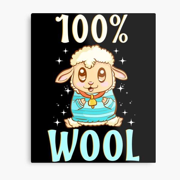 Cute & Funny 100% Wool Sheeps Are 100 Percent Wool Metal Print