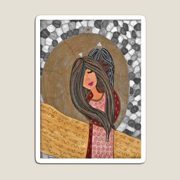 Mary Magdalene and Her Beloved - Revealed and Concealed Magnet