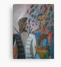 Derrida Deconstruction Man Canvas Print