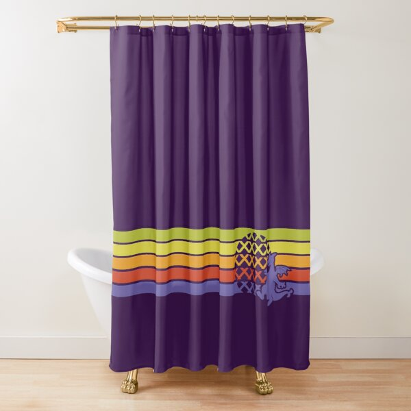 Retro Dragon Stripes Shower Curtain