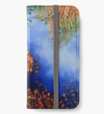 The wind scatters the golden leaves iPhone Wallet/Case/Skin