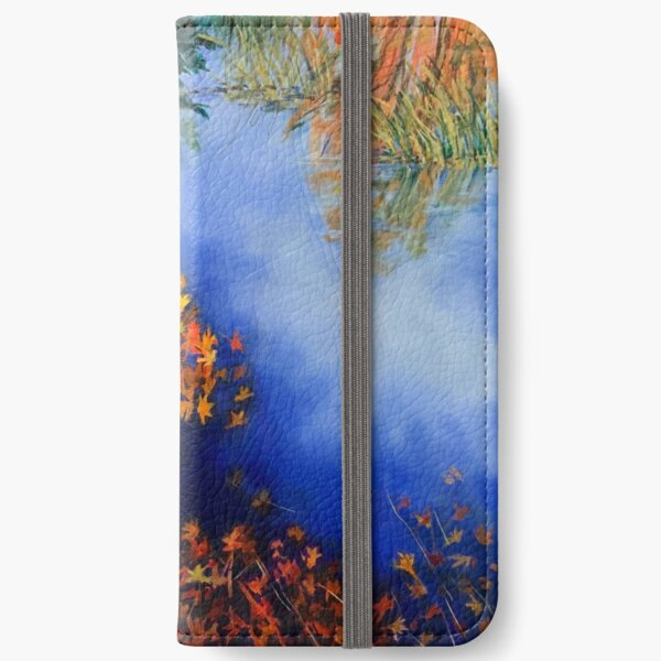 The wind scatters the golden leaves iPhone Wallet