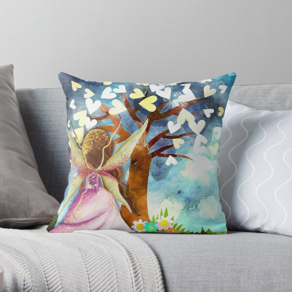 Fairy Tale Wishes Throw Pillow