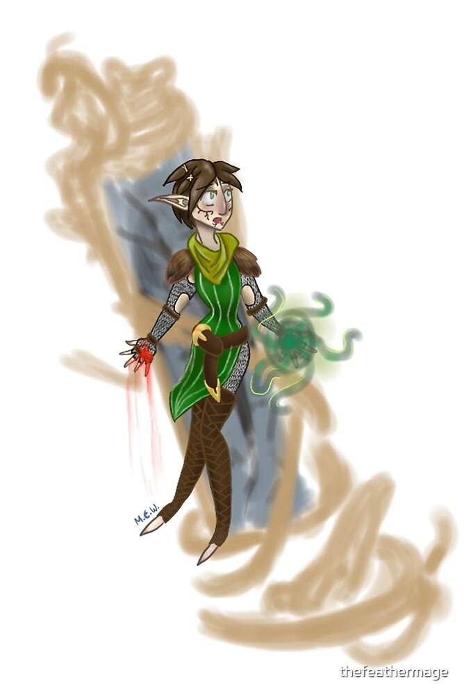 Merrill and her Eluvian by thefeathermage