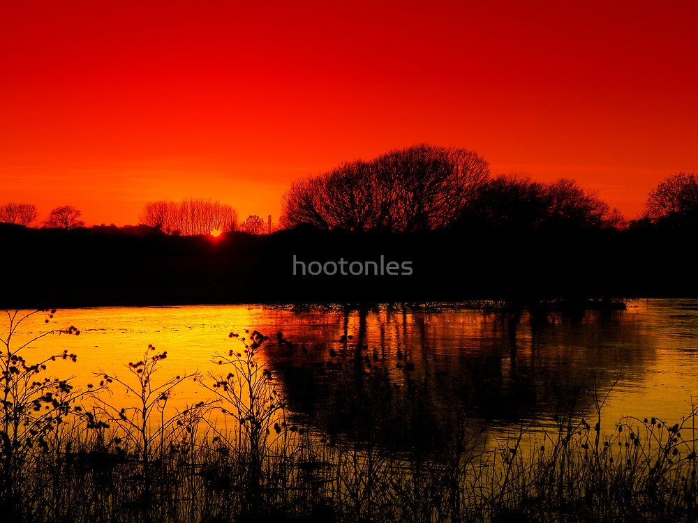 Riverside Sunset by hootonles