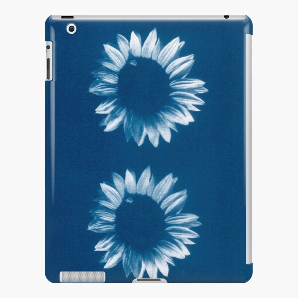 Two Sunflowers in Blue Cyanotype Print iPad Snap Case