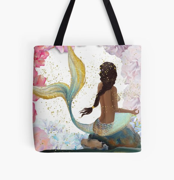 Mermaid Colors All Over Print Tote Bag