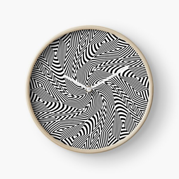 #Pattern, #funky, #repetition, #intricacy, endless, textile, repeat, illusion, abstract Clock