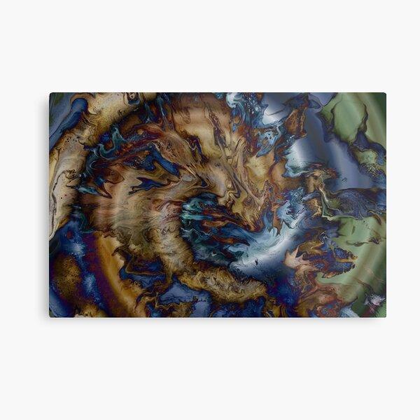 Sea Serpent Swimming Metal Print