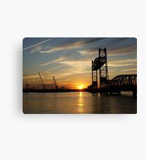 Jordan Bridge Sunset Canvas Print