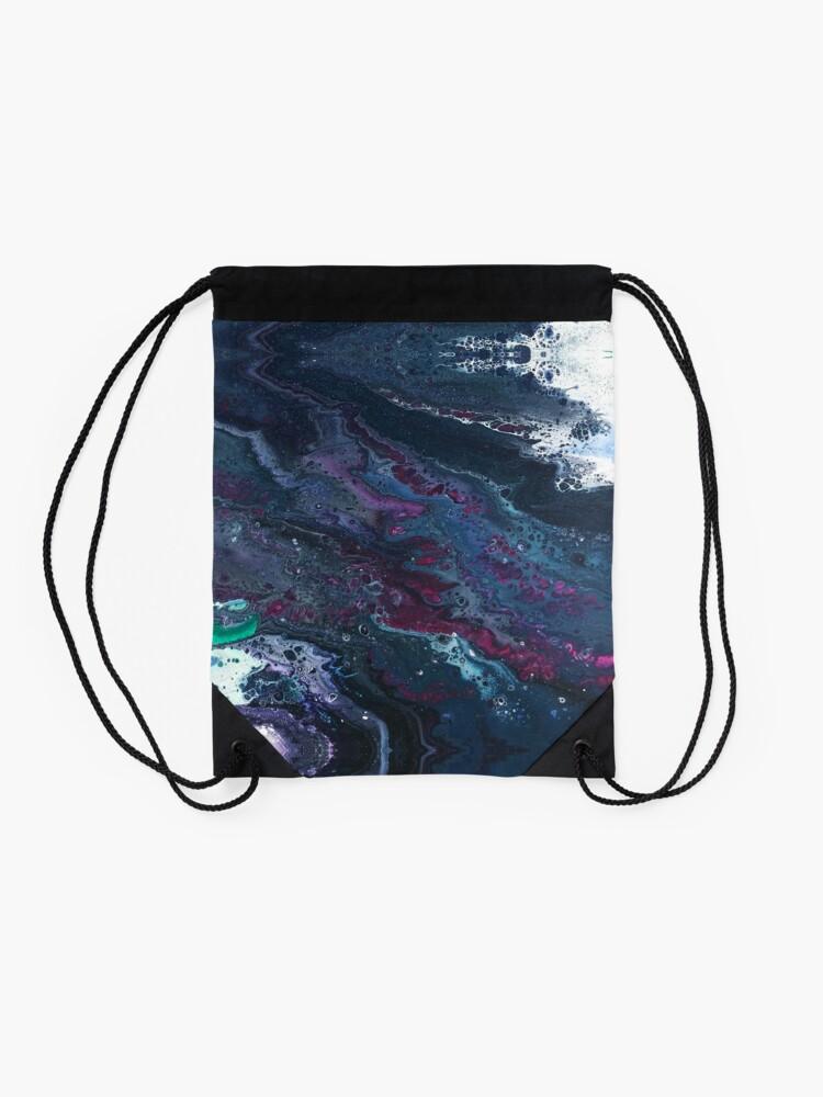 Alternate view of Skipping Between Raindrops Drawstring Bag