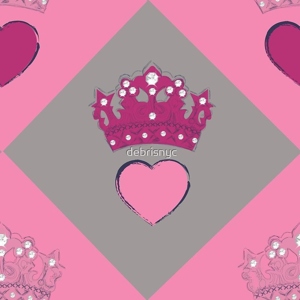 crown heart argyle by debrisnyc