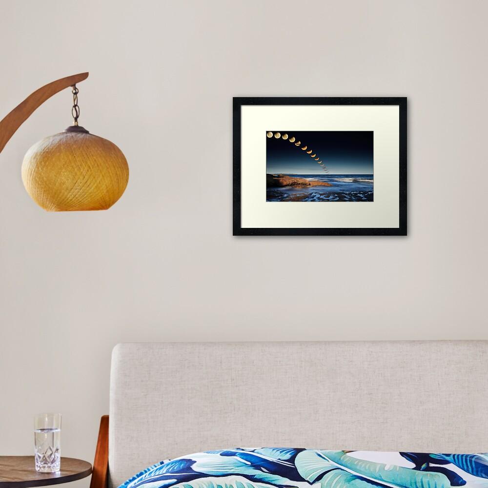 The December 2010 Summer Solstace Lunar Eclipse Framed Art Print