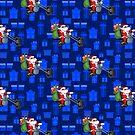 Weihnachtsmotorrad Sankt von gossiprag