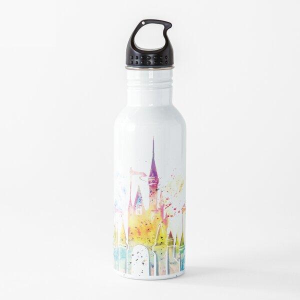 Watercolor Princess Castle Water Bottle