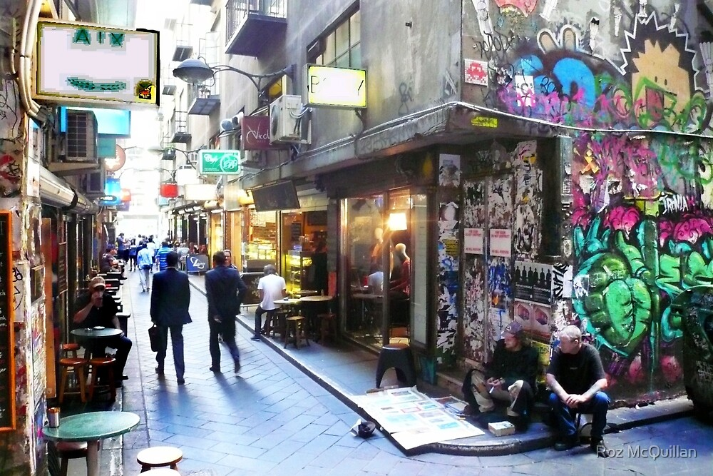 Quot Degraves Street Melbourne Quot By Roz Mcquillan Redbubble