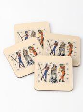 SJ Inspired Coast Guard Pinups No. 1 Coasters