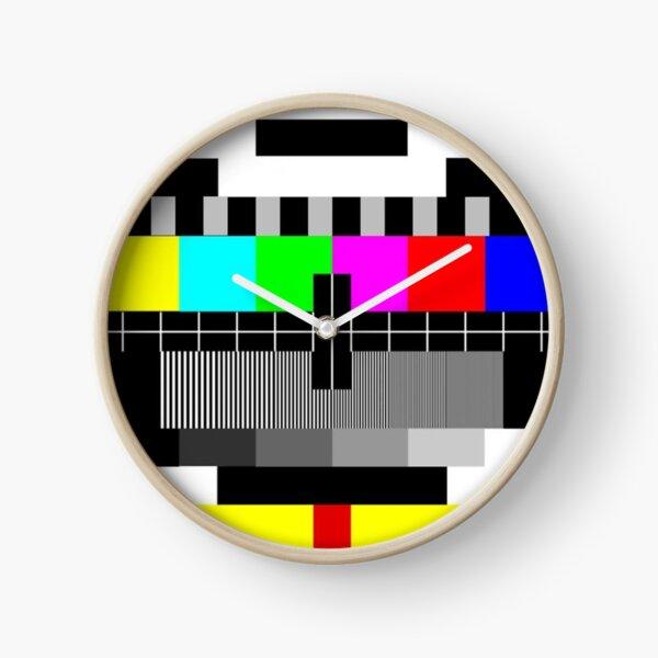 90's TV Test pattern Clock