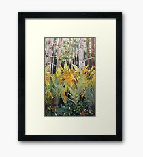Lush Brush Framed Print