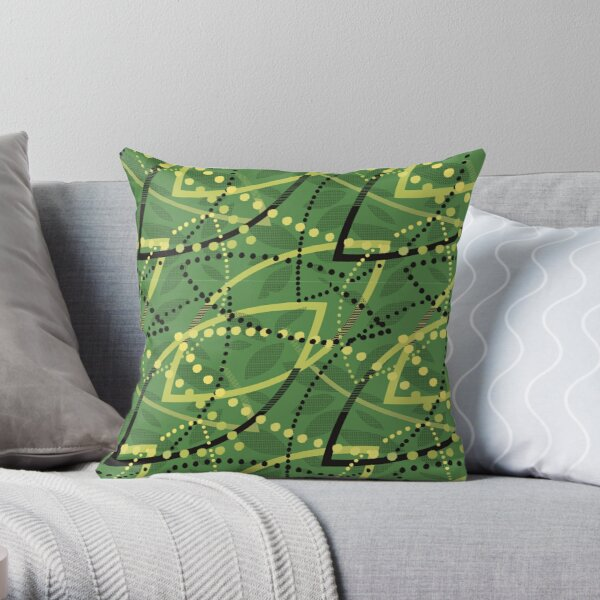 Copy of the classic seat fabric found on Melbourne Metro trams and trains! Throw Pillow