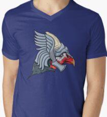 Helmeted Helmeted Guinea Fowl V-Neck T-Shirt