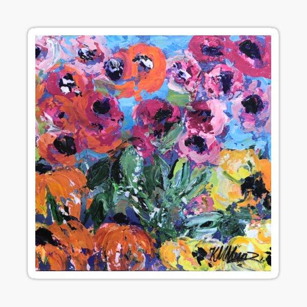 Flamin' Flowers-take2 Sticker