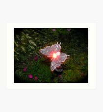 Fairy Land Night Scapes- Fairy Ferry Art Print