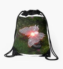 Fairy Land Night Scapes- Fairy Ferry Drawstring Bag