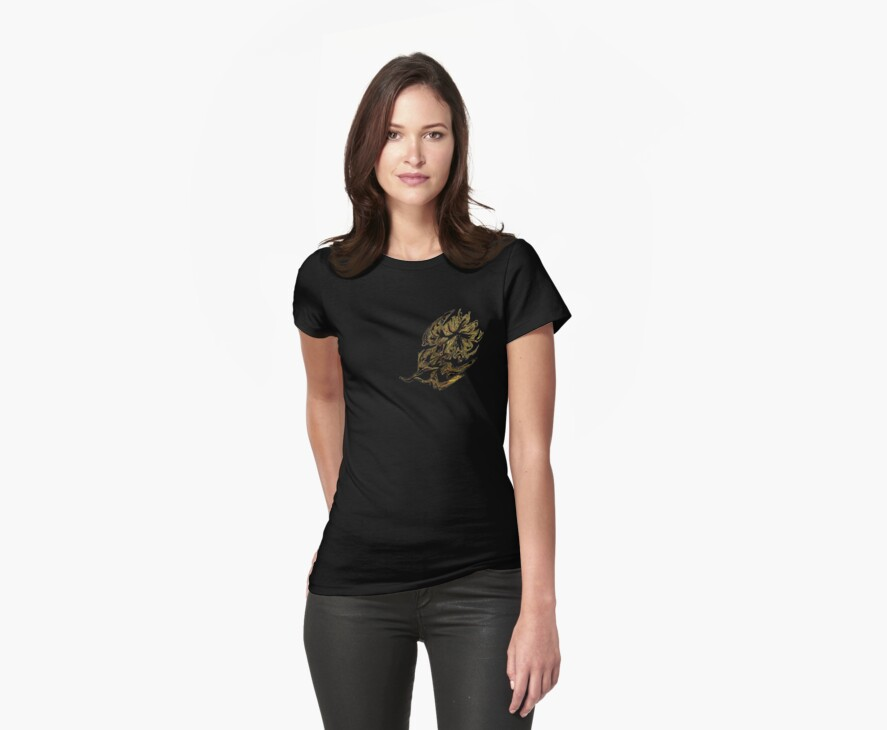 Liquid Gold Flower  Tee by MaeBelle