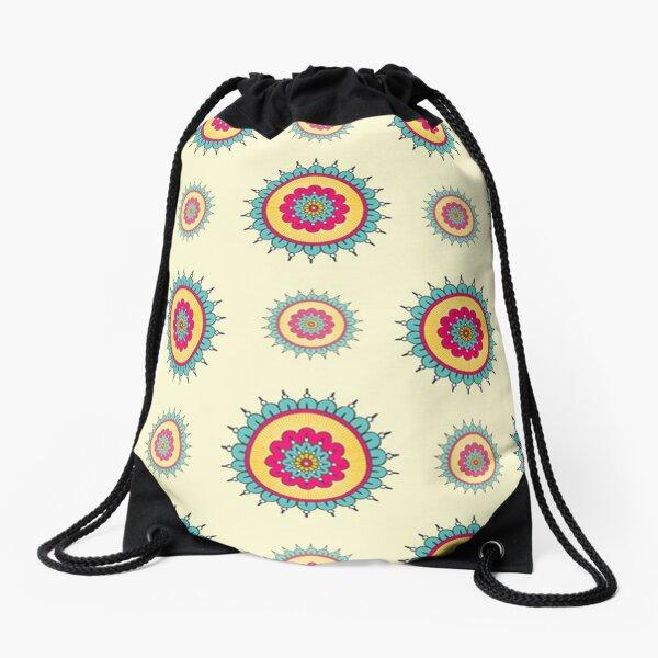 Oriental Mandala Art Drawstring Bag