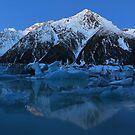 Tasman Lake New Zealand Panorama by Adrian Alford Photography