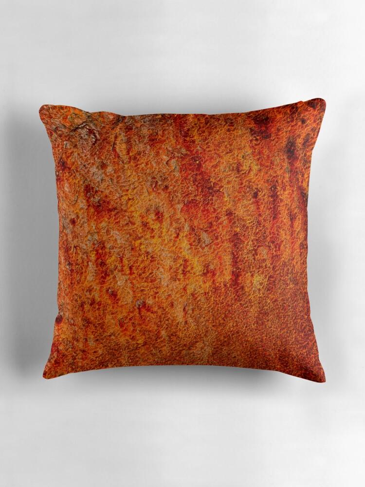 Burnt orange Throw Pillows by Karen Betts Redbubble