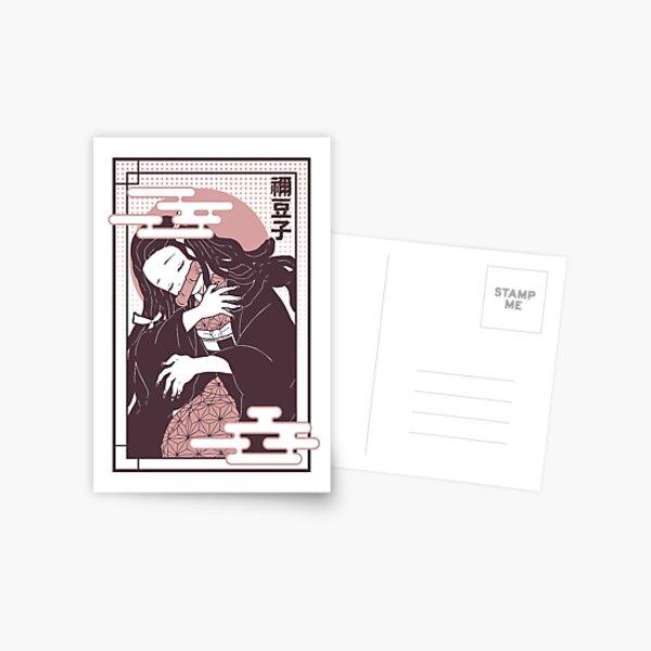 Nezuko Demon Slayer: Kimetsu no Yaiba. Postcard