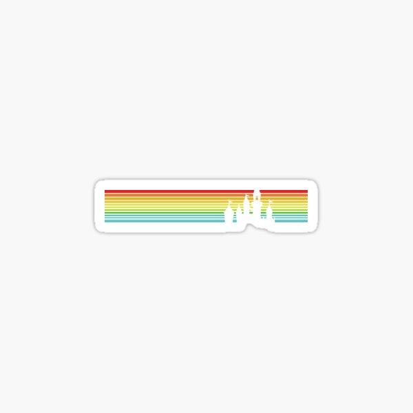 Retro Castle Stripes Sticker