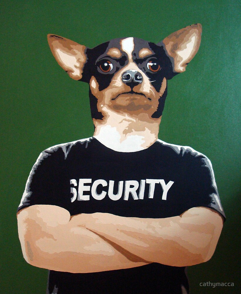 Barry the security guard by cathymacca