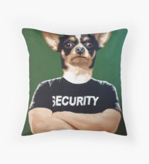 Barry the security guard Throw Pillow