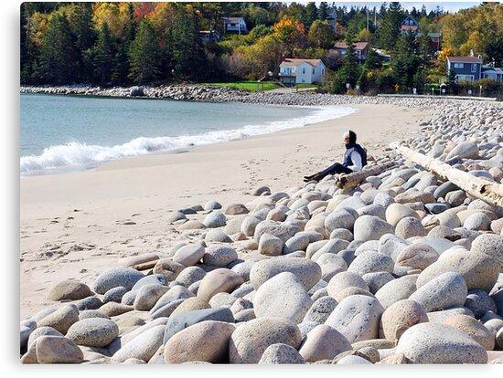 A Beach in Autumn by George Cousins