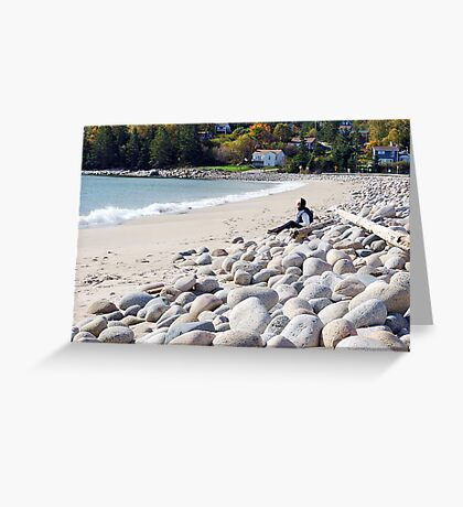 A Beach in Autumn Greeting Card
