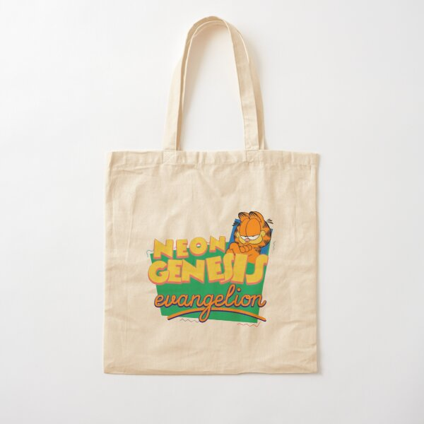Neon Genesis Evangelion Garfield Cotton Tote Bag
