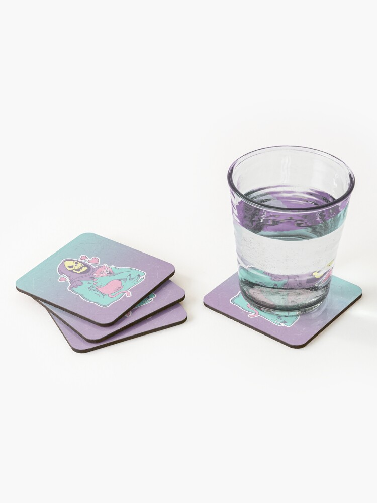 Alternate view of Skeletor's Cat Coasters (Set of 4)