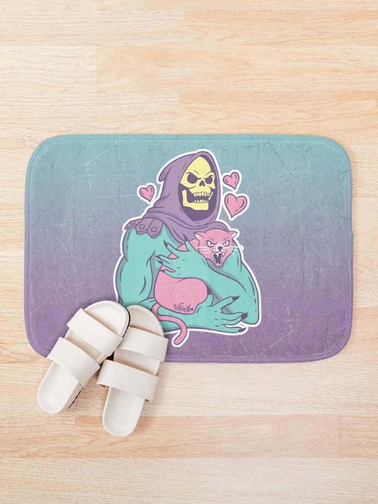Alternate view of Skeletor's Cat Bath Mat