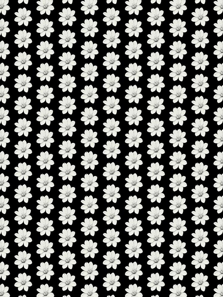 Weiß und Schwarz Blumen von RanitasArt